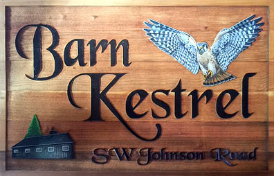 Barn Kestrel sign